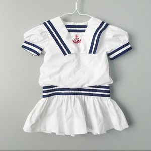 Vintage Baby Togs Sailor Nautical Costume Dress 2T